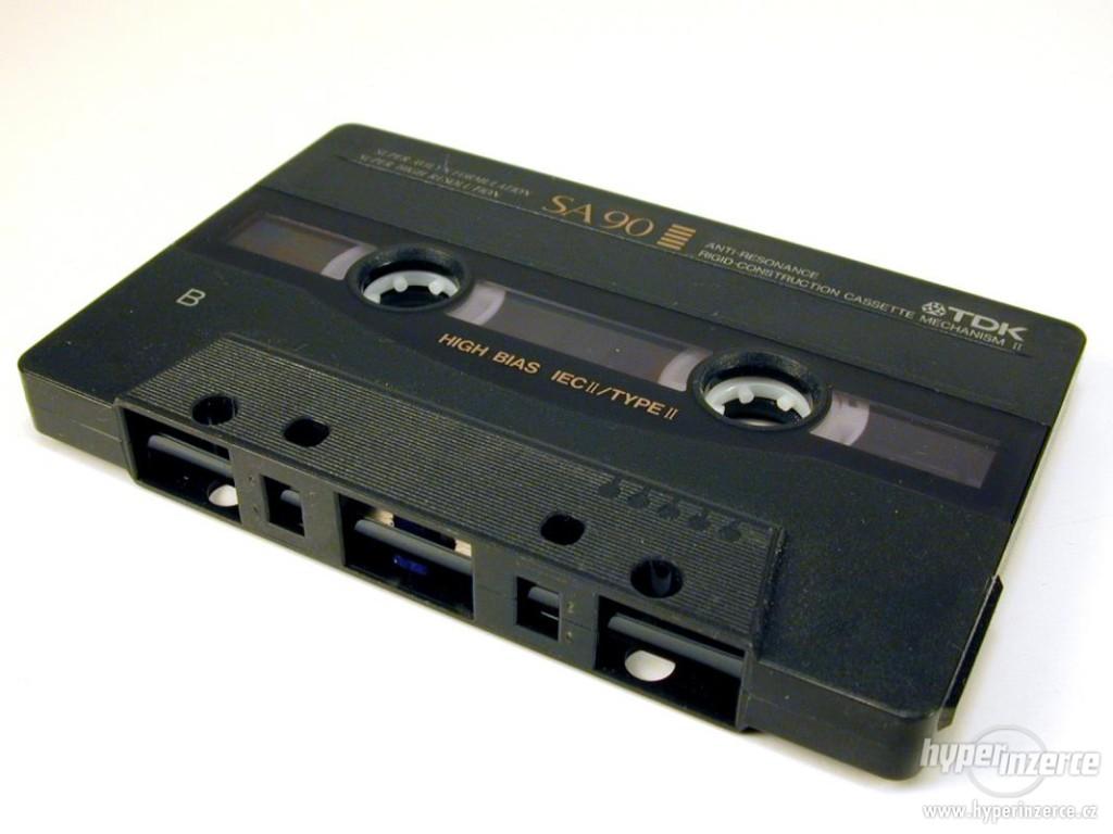 magnetofonová kazeta  od 1,90Kč/min